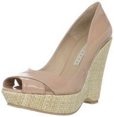 Pura Lopez Women's M200 Nude Wedge Pump