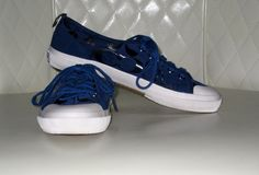 AUCTION TODAY - BIG DEALS!   I'm auctioning 'COACH Sz 7B Kattie Blue Signature Sneakers Like New ' on #tophatter
