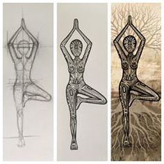 """""""Life is a balance between holding on and letting go.Progression of my Vrksasana tree pose print, from the initial sketches through to the final artwork. Yoga Drawing, Life Drawing, Tree Of Life Painting, Life Sketch, Yoga Illustration, Yoga Art, Yoga Inspiration, Initials, Sketches"""