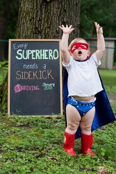 30+ Fun Photo Ideas to Announce a Pregnancy - Every Hero Needs A Sidekick