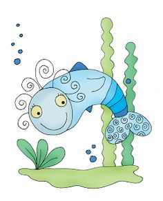Free Dearie Dolls Digi Stamps: If Wishes Were Fishes