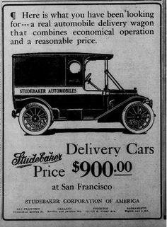 1912 Studebaker Delivery Cars