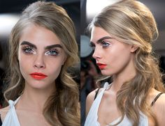 How to recreate the beehive Hair look at Moschino Spring Summer 13 showt All Things Beauty, Beauty Make Up, Large Eyes, Cara Delevingne, Beauty Trends, Makeup Inspiration, Moschino, Hair Makeup, Lips