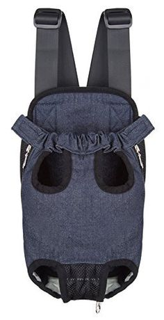 S-ssoy Outdoor Legs Out Front Pet Dog Puppy Cat Carrier Five Holes Backpack Double Shoulder Straps Denim Chest Holder Travel Bag Sling Outdoor *** Read more reviews of the product by visiting the link on the image. (This is an affiliate link) #Pets