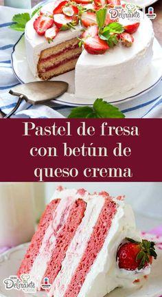 receta de pastel de fresas con crema chantilly | CocinaDelirante