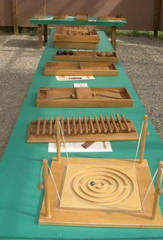 Jeux traditionnels anciens en bois d'estaminet   Parc de loisirs Teraventure