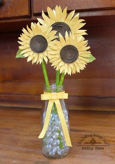 Sunflowers by Kathy Skou for @doodlebug_inc