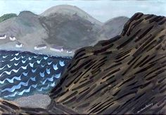 Milton Avery: White Caps and Mountains American Modern, American Art, Matisse, Landscape Art, Landscape Paintings, Landscapes, Illustrations, Illustration Art, Life Aquatic