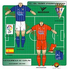 CD San Fernando of Spain kits for Football Kits, Spain, Club, Logo, Shirts, Character, Note Cards, Soccer Kits, Soccer Equipment