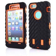 """For Coque apple iPhone 5C Case 4.0"""" Dual Layer Shockproof Case 2 in 1 Tire Style Silicone + Hard Plastic Armor Hybrid Cover"""