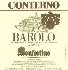 """Gotta love ageless Barolo. Giacomo Conterno Barolo Riserva """"Monfortino"""""""