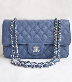 ecae75fd02cd replica chanel classic flap in light blue Chanel Double Flap, Chanel  Classic Flap, Chanel
