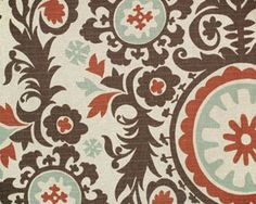 Suzani Nile/Denton By Premier Prints Fabrics Drapery Fabric
