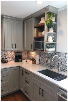 Kitchen Room Design, Kitchen Redo, Modern Kitchen Design, Home Decor Kitchen, Interior Design Kitchen, Kitchen Remodel, Kitchen Tile, Kitchen Ideas, Kitchen Witch