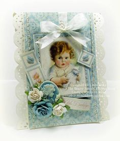 Sweet Baby Picture  Linda Duke Graphic 45 Little Darlings paper pad collection (no stamping), Spellbinders, Stamp Simply Ribbon Store