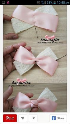 a pair of scissors and three strands of wide Stain Ribbon, you can handle this how to make hair bows plan rapidly.How to make Hair Bows - Free Hair Bow Tutorials Made the elephant for a friend and she loved it!DIY bow with simple instructions. Ribbon Hair Bows, Diy Hair Bows, Diy Ribbon, Ribbon Crafts, Tulle Hair Bows, Fabric Hair Bows, Ribbon Flower, Diy Baby Headbands, Diy Headband