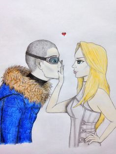 """You want to steal a kiss from me, Leonard? You better be one hell of a thief."" ❄️Captain Cold and White Canary Yuri, Captain Canary, Leonard Snart, Michael Scofield, White Canary, Fandom Crossover, Dc Legends Of Tomorrow, Supergirl And Flash, Dc Heroes"