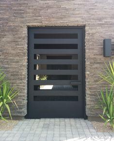 CONTEMPORARY STEEL GATE 5 Home Gate Design, Steel Gate Design, Front Gate Design, Entry Way Design, Door Design, House Design, Gate House, House 2, Door Entryway