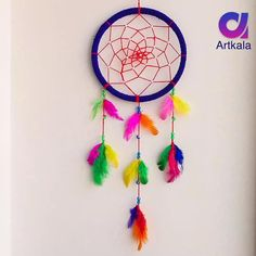 Diy Crafts Hacks, Diy Crafts For Gifts, Diy Arts And Crafts, Paper Crafts, Easy Yarn Crafts, Diy Projects, Dream Catcher Patterns, Dream Catcher Decor, Diy Dream Catcher For Kids