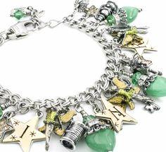 Tinkerbell Gold Star Charm Bracelet