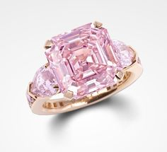 Pink diamond engagement ring by Graff