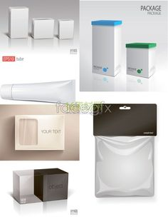 Variety of product packaging template vector