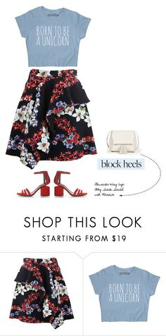 """Block Heels"" by tawnee-tnt ❤ liked on Polyvore featuring MSGM, Sole Society and blockheels"