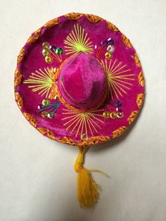 Hey, I found this really awesome Etsy listing at https://www.etsy.com/listing/207179113/60-mexican-mini-colorful-sombrero-hat
