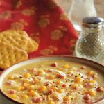 💜💜💜 Fun and filling corn chowder. Slow cooker.
