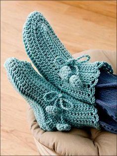 botas dormir crochet