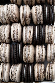 Really nice recipes. Every hour. • COOKIES AND CREAM MACARONS  Really nice recipes....