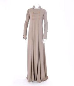 "Gorgeous abaya with a ""historic"" vibe... This is really a lovely bit of hijab!"