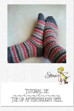 Tutorial toe up afterhought Knitting Patterns Free, Free Pattern, Afterthought, Knitting Socks, Knit Socks, Artsy, Diy Crafts, Html, Handmade