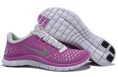 Frauen Nike Free 3.0 V4 Magenta Reflect Silber Pure Platinum
