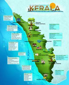 Travel infographic Must Visit Tourist Destinations in Kerala Infographic Kerala Travel, India Travel Guide, Kerala Tourism, South India Tourism, Travel Tours, Travel And Tourism, Asia Travel, Travel Destinations, Travel Maps