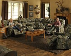 Camo CatNapper Cuddler Sectional