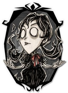 Don't Starve Together - Willow Shadow Skin Art