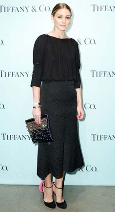 Olivia Palermo wore a Tibi skirt, vintage top and Christian Louboutin heels to the same event.