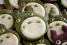 Totoro Cookies made with Matcha
