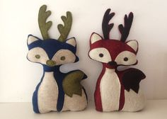 stuffed fox with antlers free pattern