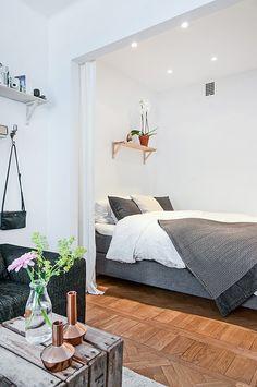 Studio apartment bed space