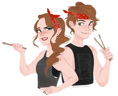 5SOS boys with their lady selves credit goes to http://fallencalum.tumblr.com/