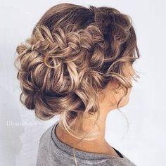Pretty braied updo wedding hairstyle | Wedding Hairstyles #weddinghair #hairstyles #bridalhairstyles