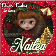 NombresEloisa.Blogspot.mx: Muñequita Navideña con Nombres