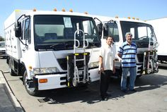 UD Nissan from Rush Truck Centers, ice cream trucks with hand truck units installed by General Truck Body in Los Angeles, California. Roland (Plant Manager) and Frederico (Parts Manager) 1750 Albion Street Los Angeles, CA 90031 Sikorsky Aircraft, Hand Cart, Truck Transport, Cab Over, Truck Accessories, Nissan, Transportation, Forget