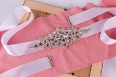 Wedding Belt Blush Bridesmaid Sashes Handmade Custom-Made Beading Wedding Belt Bridal Accessories Crystal Wedding Dress Bridal Belt S01 Online with $26.17/Piece on Yupan's Store | DHgate.com