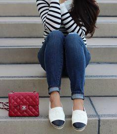 StylishPetite.com   Chanel Espadrilles