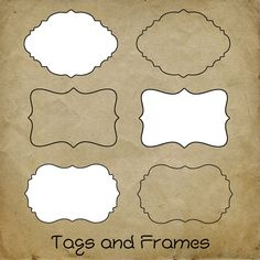 free digital scrapbooking tags and frames in png format
