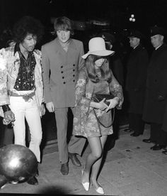 """Hendrix with Chas Chandler: """"How I Won The War"""" Movie Premiere: London, England 1967-10-18"""