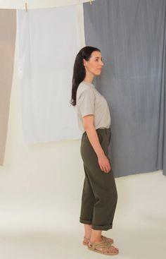 Rahkasammal T-shirt soft grey Stand Collar Shirt, Collar Shirts, Sustainable Clothing, Sustainable Design, Leftover Fabric, Light Blue Color, Knitwear, Button Up Shirts, Classic T Shirts